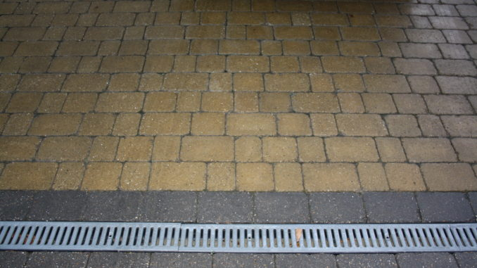 Block paving installation Sandstone Block