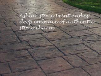 imprinted driveways ashlar stone pattern